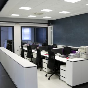 How to fit out a small commercial office to maximise space.
