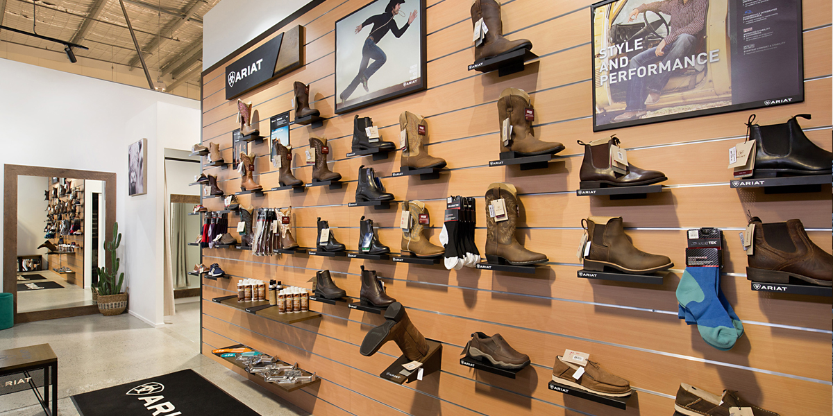 ariat shoes on shelving image