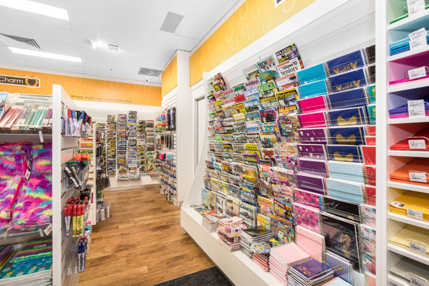 shelving used in a Newsagency Fitout
