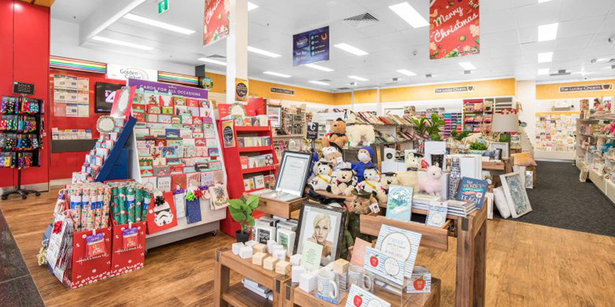 Newsagency Fitout image looking into the store